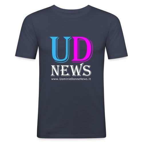 La maglietta di Uomini e Donne News scura - Maglietta aderente da uomo