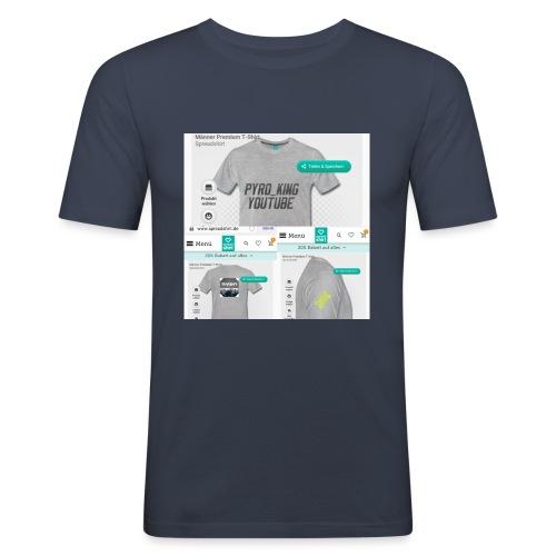 Pyro_King T-shirt - Männer Slim Fit T-Shirt