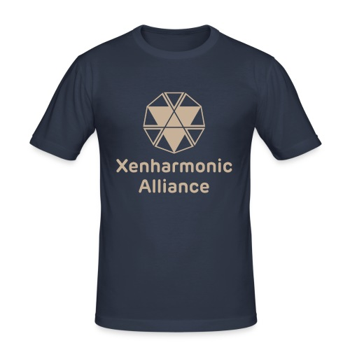 Xenharmonic Aliiance Tan - Men's Slim Fit T-Shirt