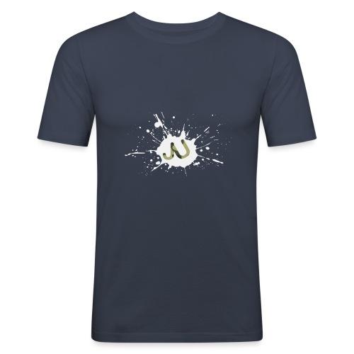 logo2 6 pinkki - Miesten tyköistuva t-paita