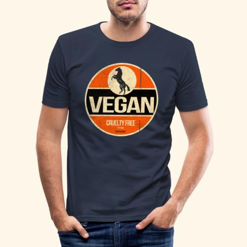 VEGAN Prancing Horse - Men's Slim Fit T-Shirt