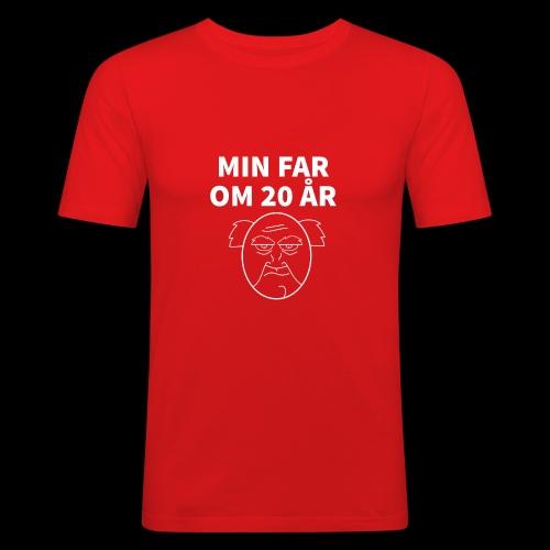 Min Far Om 20 År (Moto) - Herre Slim Fit T-Shirt
