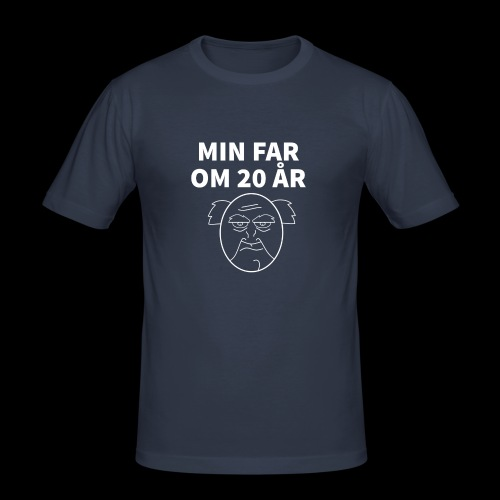 Min Far Om 20 År (Moto) - Herre Slim Fit T-Shirt