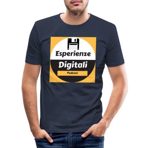 Logo Esperienze Digitali - Maglietta aderente da uomo
