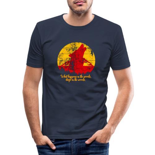 Wolf - Mannen slim fit T-shirt