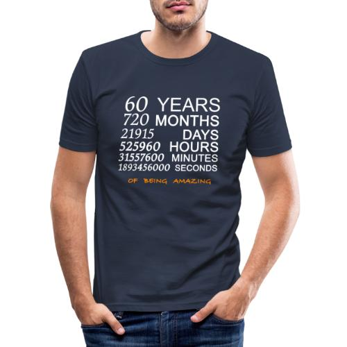 Anniversaire 60 years 720 months of being amazing - T-shirt près du corps Homme