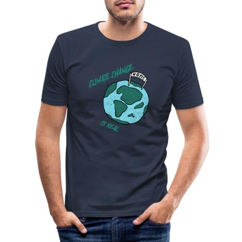 Climate change is real - Mannen slim fit T-shirt