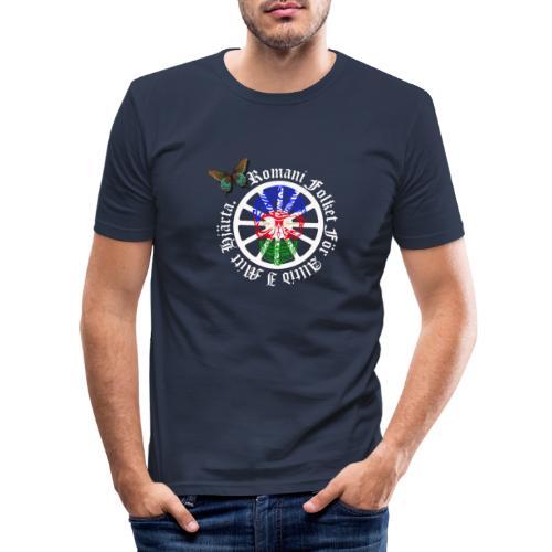 LennyhjulRomaniFolketivitfjerliskulle - Slim Fit T-shirt herr