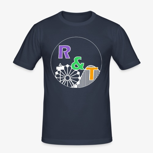 *Limited Edition* Robin & Thomas Merch Wit - Mannen slim fit T-shirt