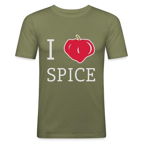 i_love_spice-eps - Miesten tyköistuva t-paita