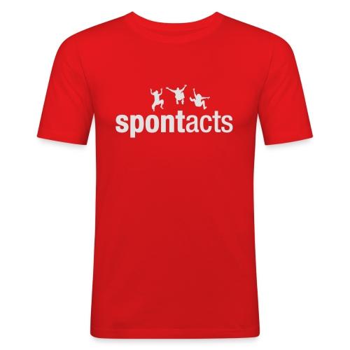 spontacts_Logo_weiss - Männer Slim Fit T-Shirt