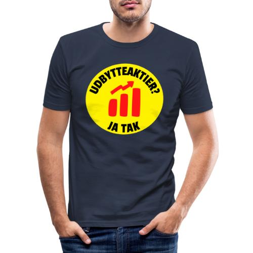 Udbytteaktier - Ja tak - Herre Slim Fit T-Shirt