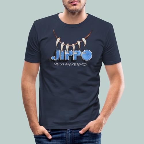 Jippomestari - Miesten tyköistuva t-paita