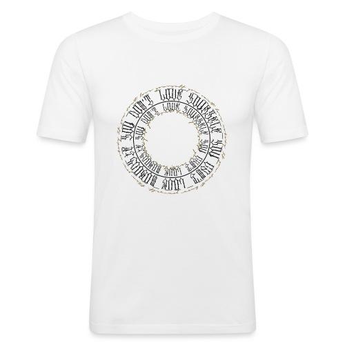 CALLIGRAPHY-CIRCLE - Maglietta aderente da uomo