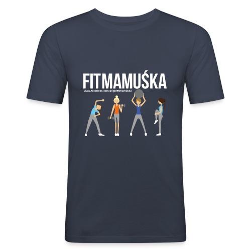 Fitmamuśka - Koszulka Czarna - Obcisła koszulka męska