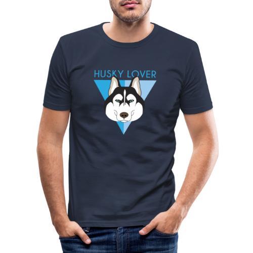 Husky - Blue - Maglietta aderente da uomo