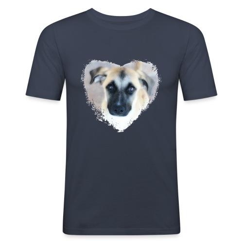 Ciqala - Ein Herz für Streuner - Männer Slim Fit T-Shirt