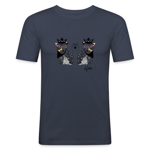 KingLeo - Camiseta ajustada hombre