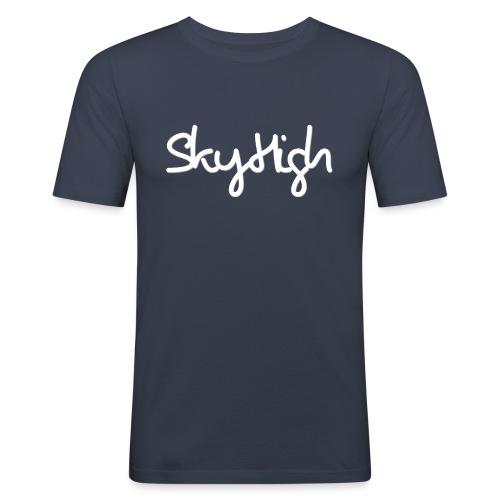SkyHigh - Men's Premium Hoodie - White Lettering - Men's Slim Fit T-Shirt