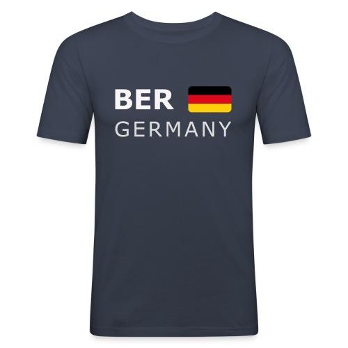 BER GERMANY GF white-lettered 400 dpi - Men's Slim Fit T-Shirt