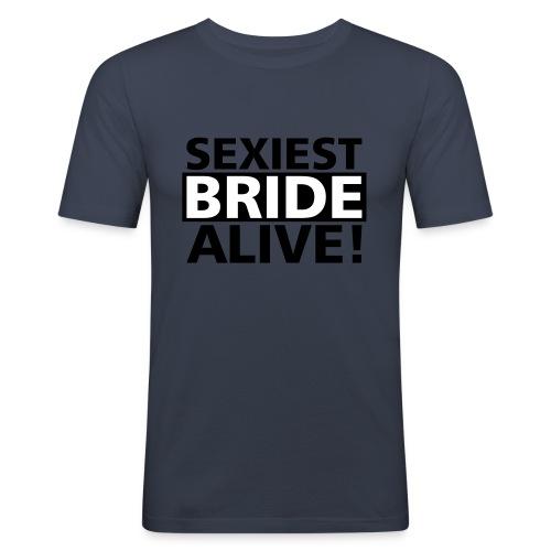 sexiest bride alive - Männer Slim Fit T-Shirt