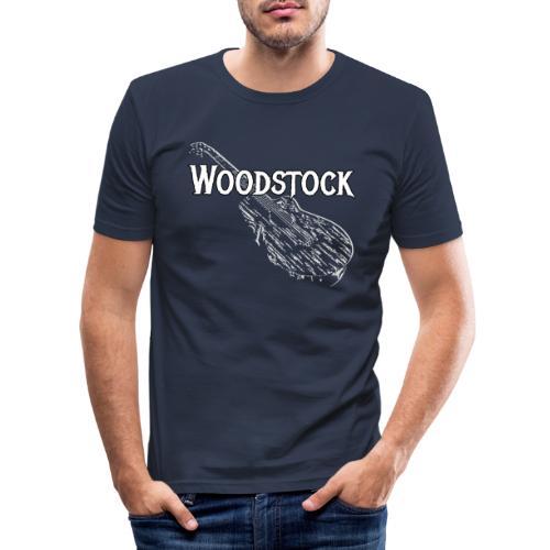 Woodstock Event Gitarre Shirt Geschenk - Männer Slim Fit T-Shirt