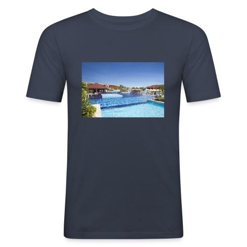 splendide piscine - T-shirt près du corps Homme