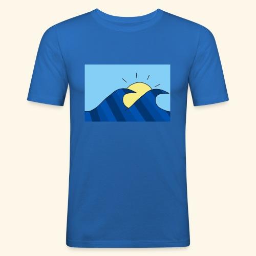 Espoir double wave - Men's Slim Fit T-Shirt