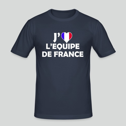 J'aime L'équipe de France (B) - T-shirt près du corps Homme