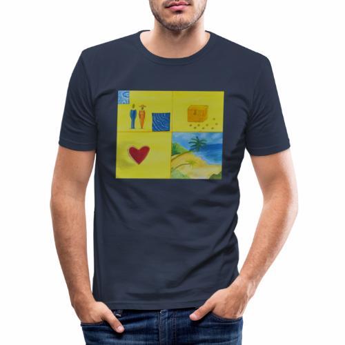 Viererwunsch - Männer Slim Fit T-Shirt