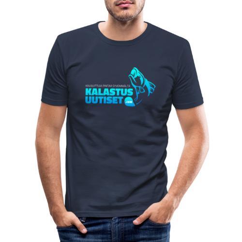Kalastusuutiset - Miesten tyköistuva t-paita
