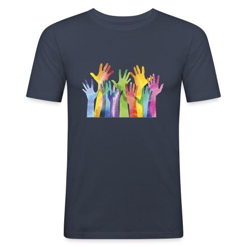 Alll hands - Mannen slim fit T-shirt