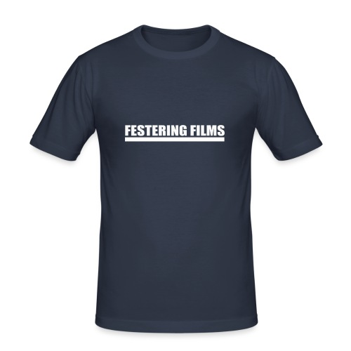 Festering Films Logo (White) - Men's Slim Fit T-Shirt
