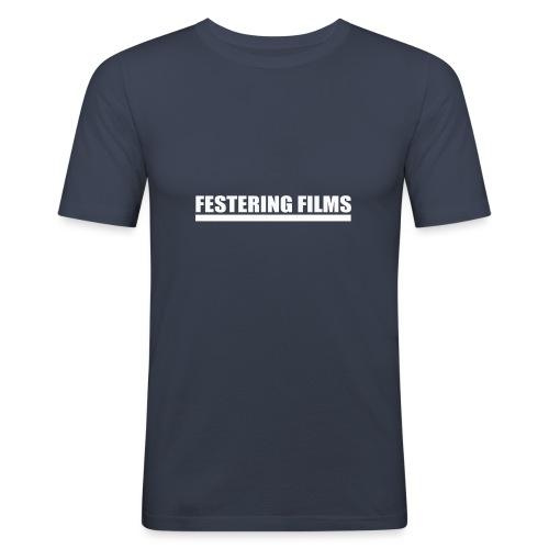 Logo de Festering Films (Blanc) - T-shirt près du corps Homme