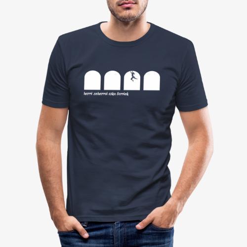 Harri zaharrei esku berriak - Men's Slim Fit T-Shirt