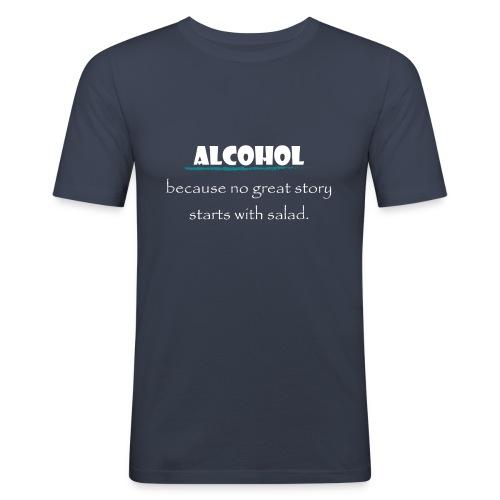 alcohol salad - Männer Slim Fit T-Shirt