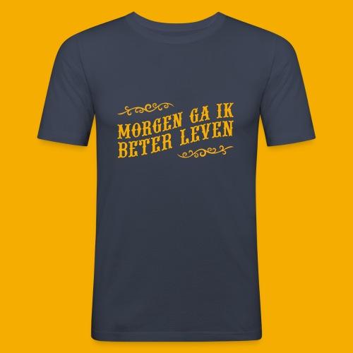 tshirt yllw 01 - Mannen slim fit T-shirt