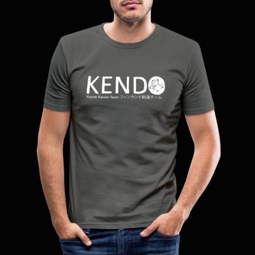 Finnish Kendo Team Text - Miesten tyköistuva t-paita
