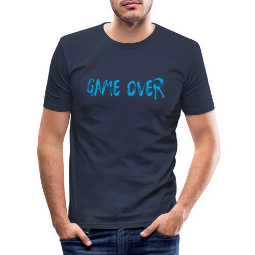 Game Over Nerd Gamer Shirt Geschenk - Männer Slim Fit T-Shirt