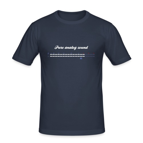 digital VU meters - Men's Slim Fit T-Shirt