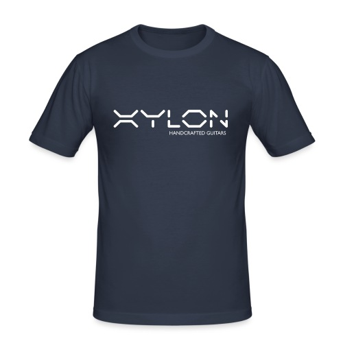 Xylon Handcrafted Guitars (name only logo white) - Men's Slim Fit T-Shirt