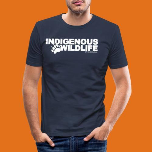 indigenous wildlife new - Men's Slim Fit T-Shirt