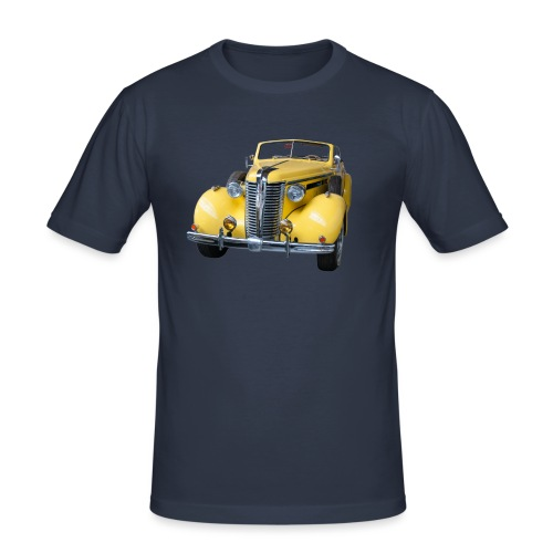 Gele klassieke auto1920 - Mannen slim fit T-shirt