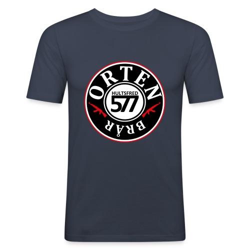 577 ORTEN crew hoodie - Slim Fit T-shirt herr