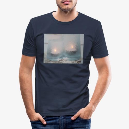 Selectie kaarslicht - Mannen slim fit T-shirt