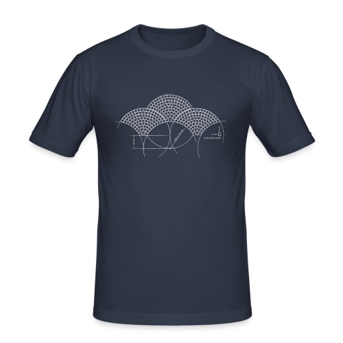 European Fan White - Mannen slim fit T-shirt