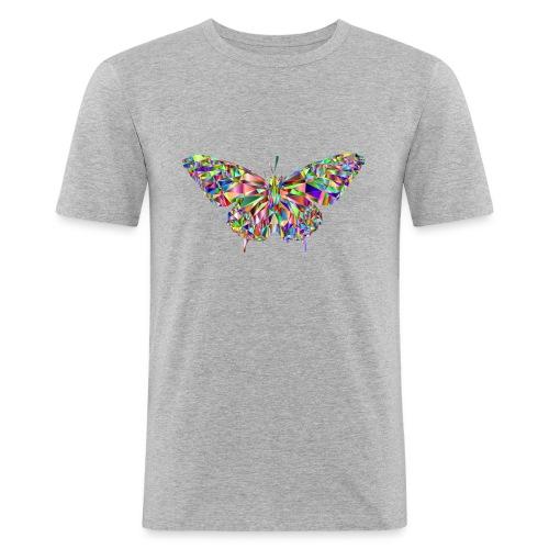 Geflogener Schmetterling - Männer Slim Fit T-Shirt