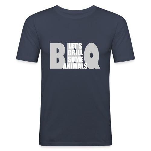 BBQ - Männer Slim Fit T-Shirt