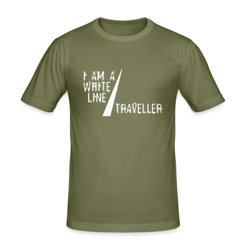 i am a white line traveller - slim fit T-shirt
