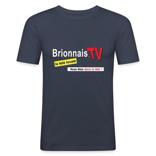 BTV logo shirt dos - T-shirt près du corps Homme
